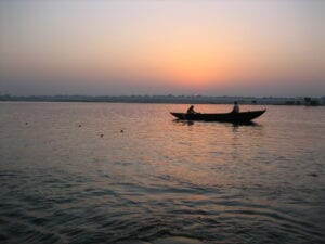 the River Ganges at Dawn in Varanasi